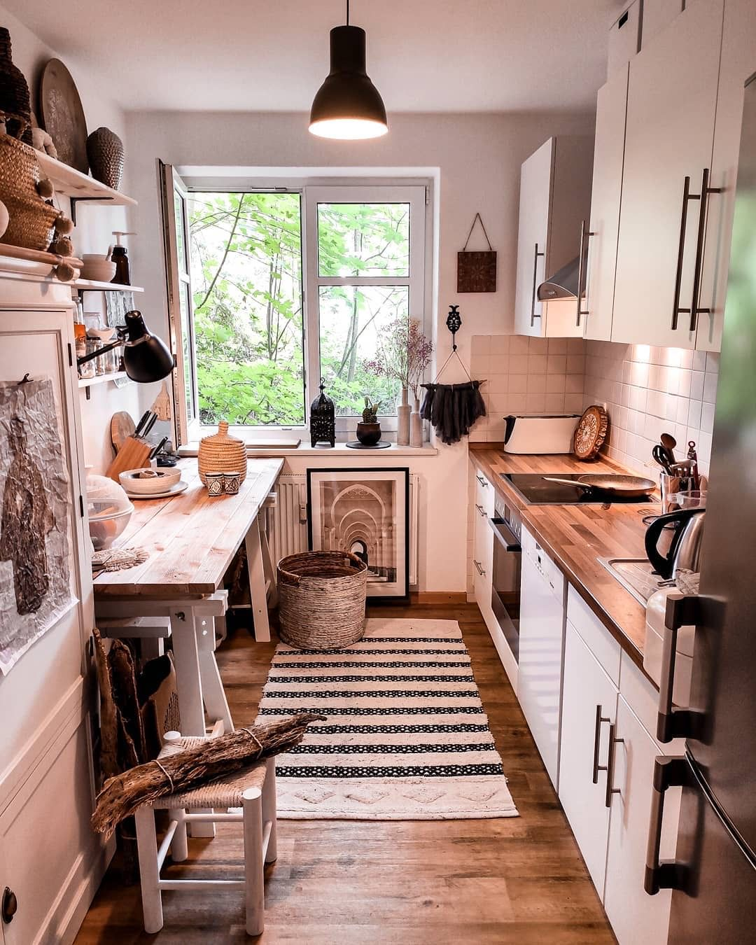 pin by emily robinson on flat inspo kitchen interior bohemian kitchen interior design kitchen on kitchen interior boho id=88326