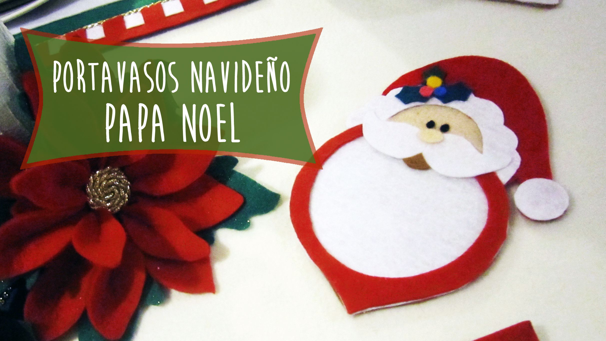 Pin by Manualidades aPasos on Papa Noel Portavasos Navide±o Ideas