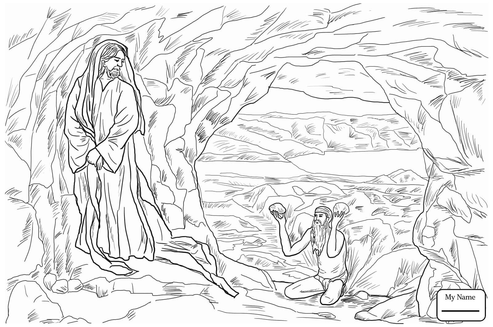 Temptation Of Jesus Coloring Pages Temptation Of Christ Bible Coloring Pages Coloring Pages Jesus Coloring Pages
