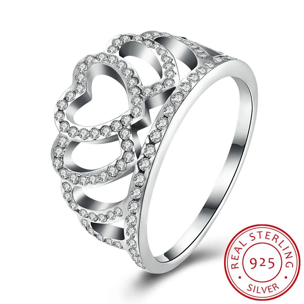 Buy For Less 925 Sterling Silver Crown Ring