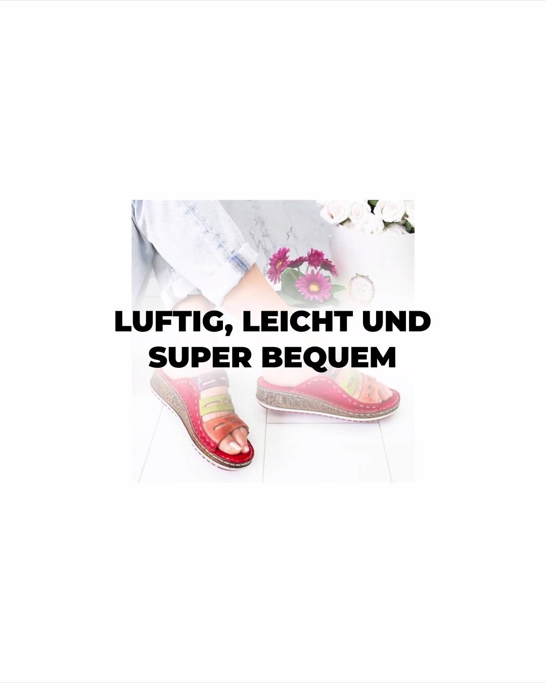 Photo of Luftige, leichte und super bequeme Sandalen.