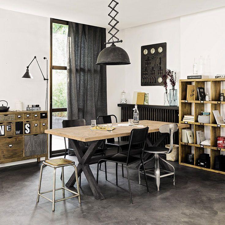 meubles d co d int rieur industriel maisons du monde int rieurs pinterest int rieurs. Black Bedroom Furniture Sets. Home Design Ideas