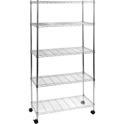 Wire Shelving On Wheels With Images Wire Shelving