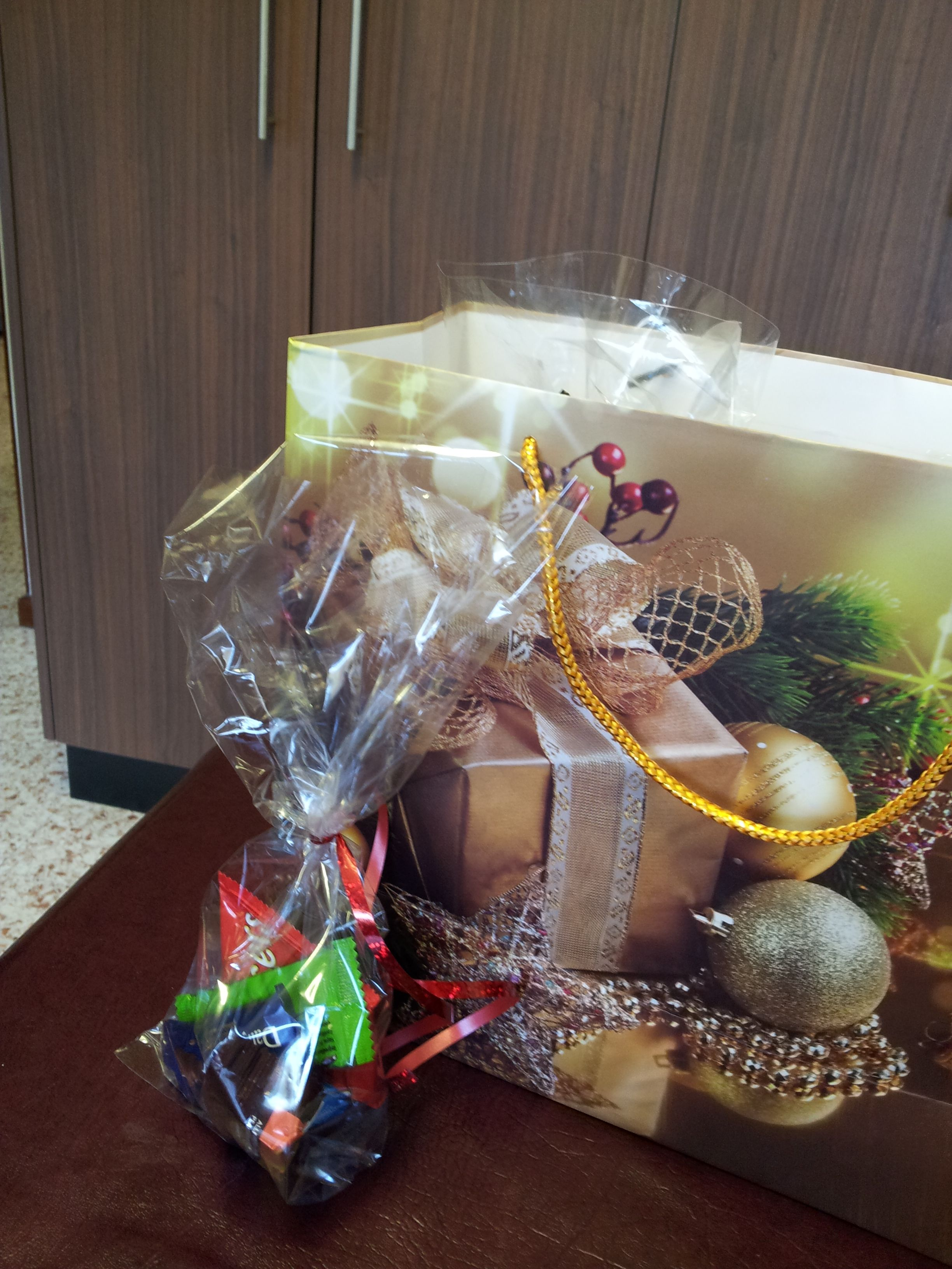 Little gifts of chocolate for the residents of oceanview