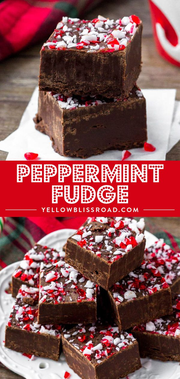Peppermint Fudge #holidaytreats
