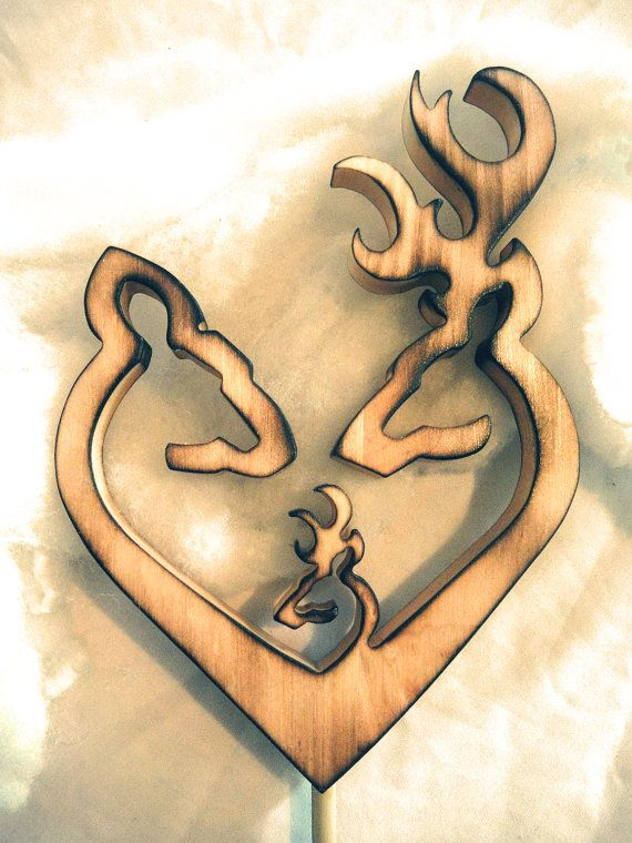 ELITE Collection Country Rustic Shabby Browning Deer Couple Heart ...