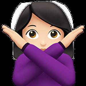 Face With No Good Gesture 1 Woman Shrug Emoji Emoji Emoji Art