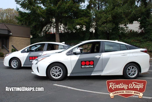 Toyota Prius Graphics For Security Company In 2020 Vehicle Signage Fleet Car Wrap