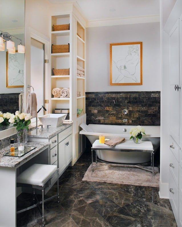Jacksonville Florida Design Ideas Kohler Laminar Flow Tub Filler Mounted Without Valve Trim Controlled By The Dtv Florida Design Bathroom Renos Bath Design