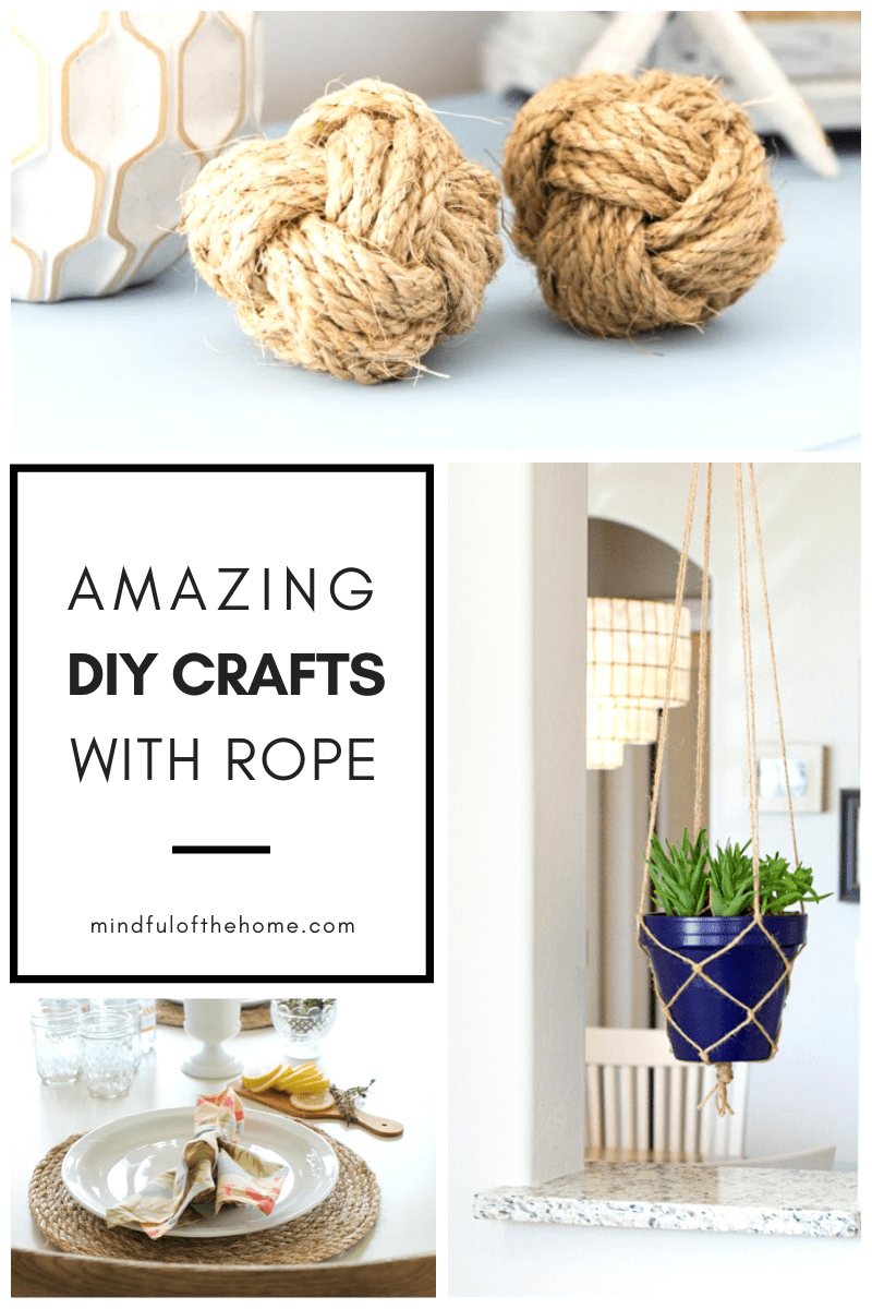 These DIY ideas using rope is all the inspiration you will need for your next project. Check out these tutorials of some of the best DIY home decor crafts using rope that's perfect for rustic and coastal home decor! #DIY #DIYhomedecor #DIYcrafts