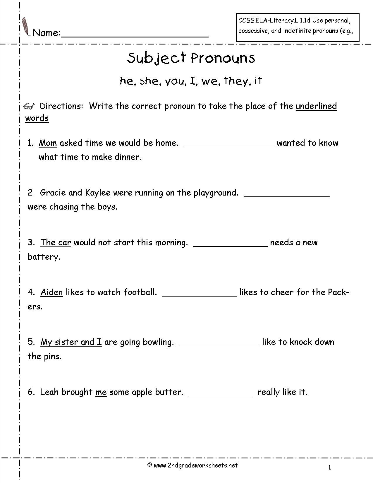 Pin By Greeshma Rai On Pronouns Practice For Grade 1
