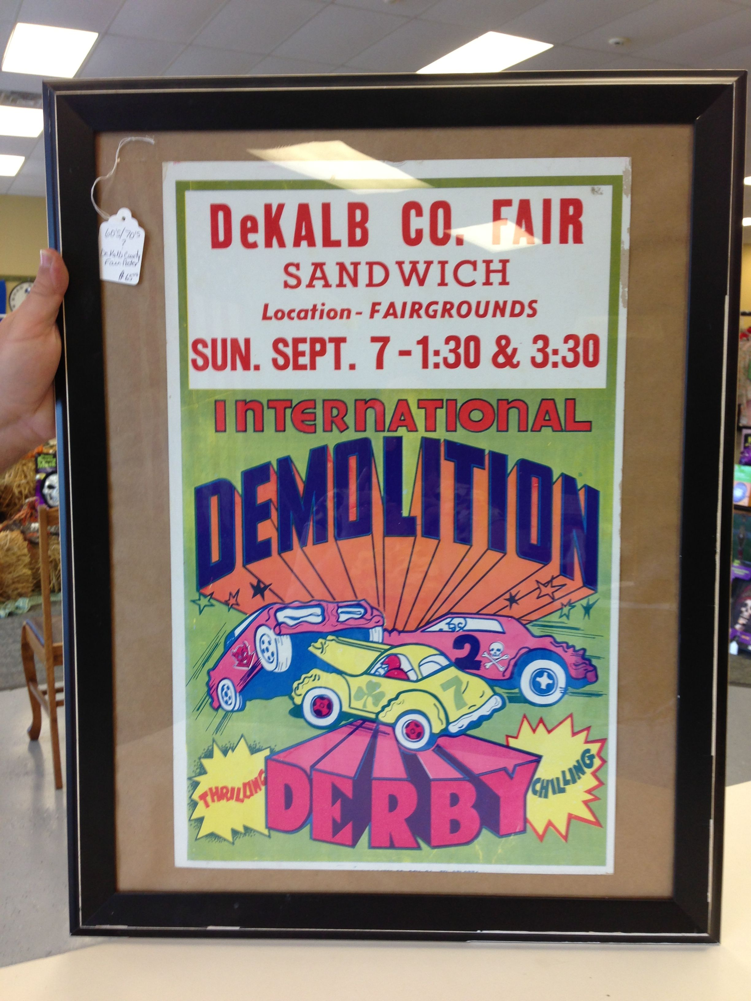 1969 poster for the DeKalb County fair, now known as the Sandwich (IL) Fair