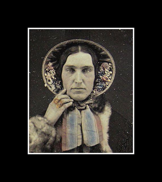 1/6 Color Daguerreotype Woman in Furs Jewelry Bonnet by diabolus, $255.00