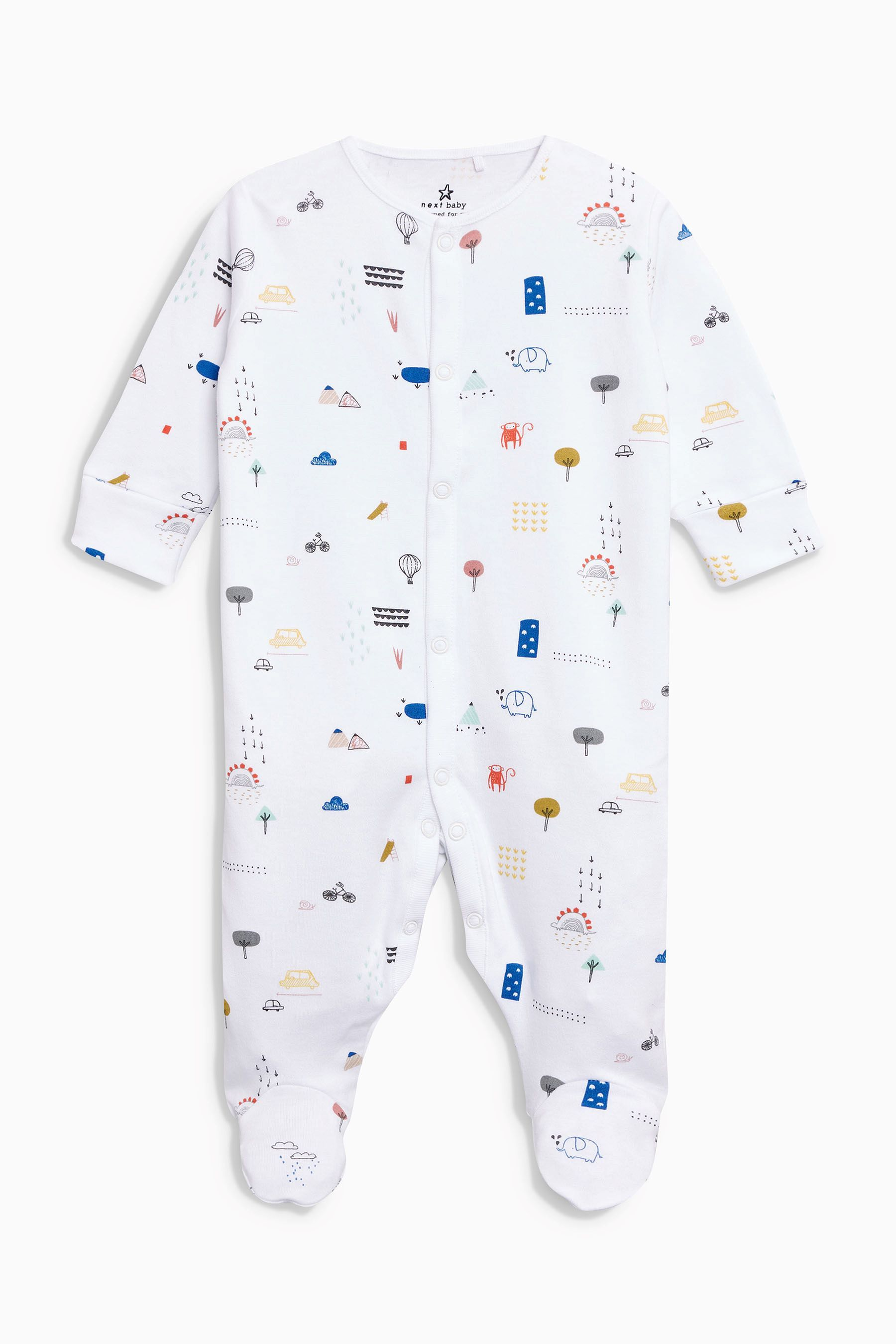 cf88478d400f Buy Monkey Print Sleepsuits Three Pack (0mths-2yrs) from the Next UK ...