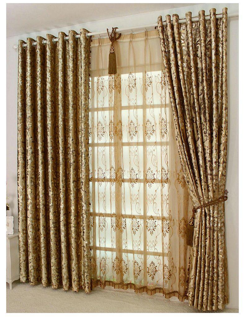 Luxury European Style Curtains Bedroom Window Shading