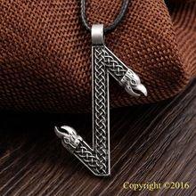 1pcs Elder Futhark Rune Pendant NECKLACE EIHWAZ Rune Yggdrasil Viking Amulet Runic Nordic Talisman Pendant NECKLACE(China (Mainland))