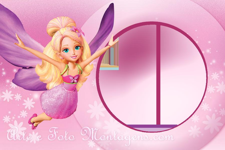 Invitaciones o Marcos para Fotos de Barbie para Imprimir Gratis ...