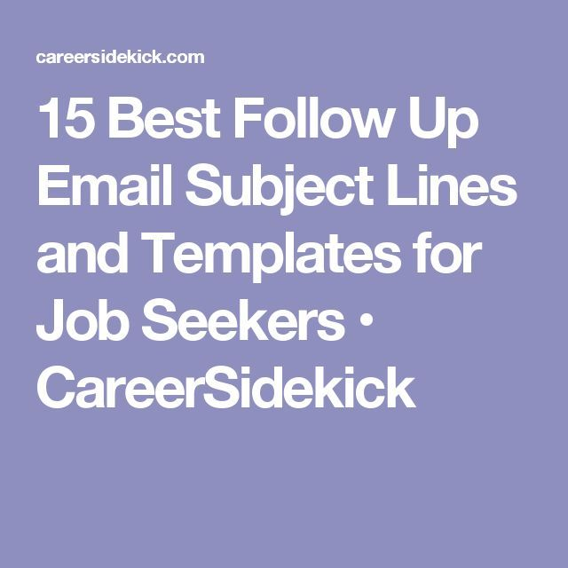 15 Best Follow Up Email Subject Lines and Templates for Job - email resume subject