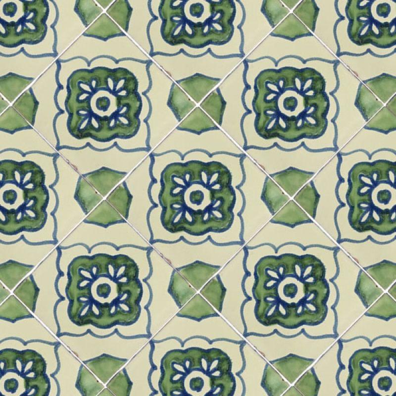 Green Toledo 2 Talavera Mexican Tile