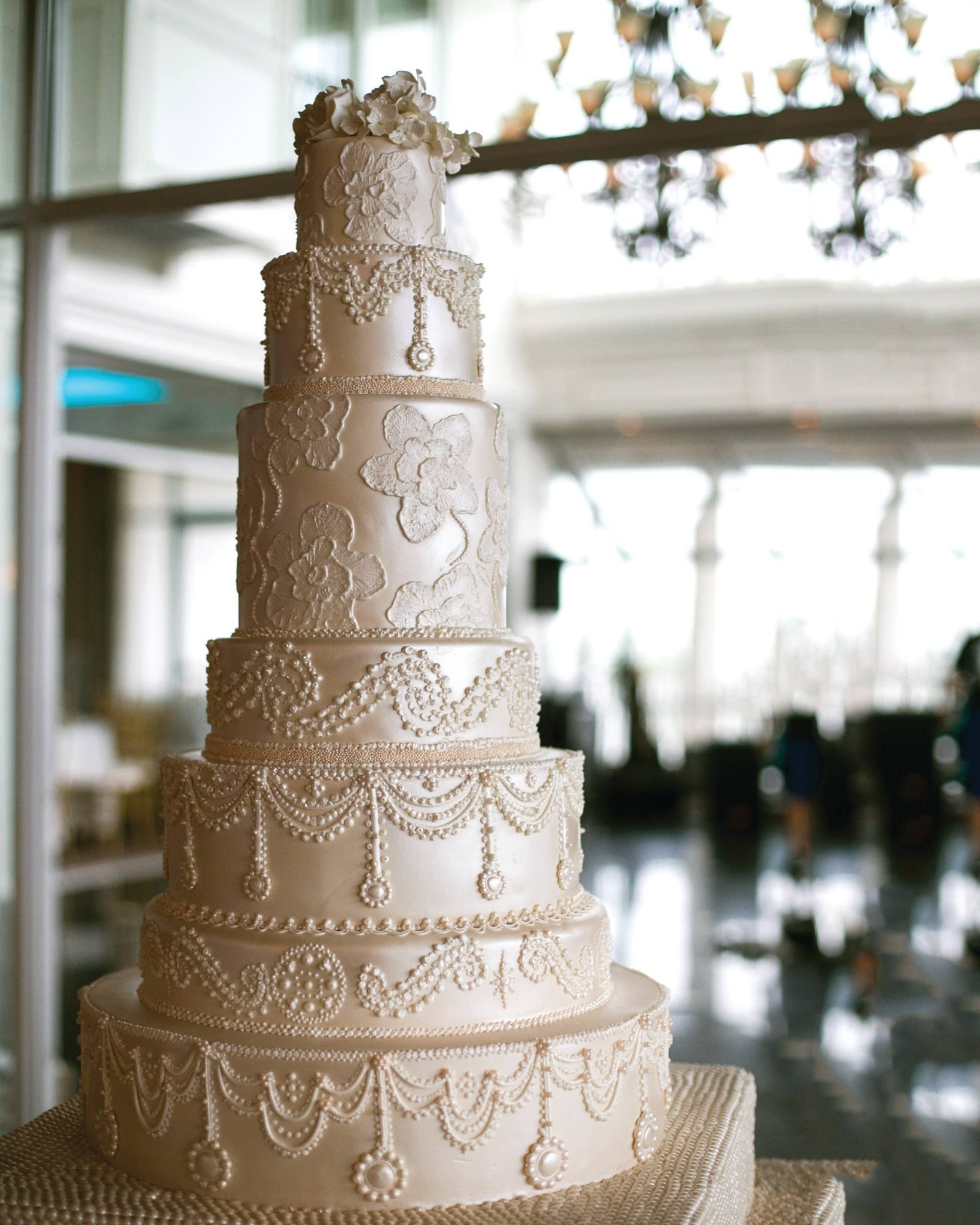 Gorgeous Wedding Cake With Intricate Piped Details Cake Boss Buddy