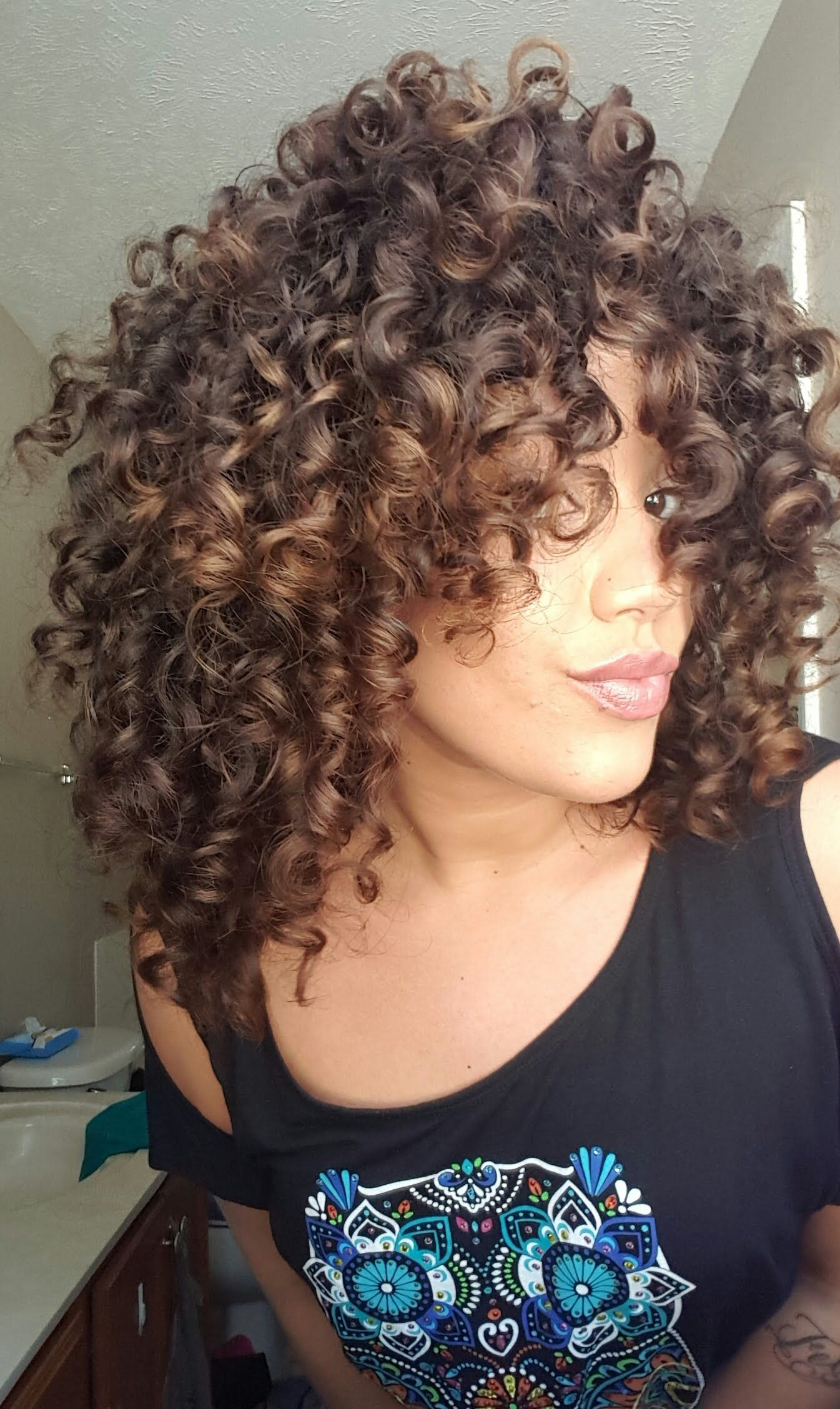 Bouncy Natural Curl Routine How To Curl Short Hair Curly Hair Styles Naturally Curly Hair Styles