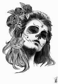 Catrinas Dibujos Buscar Con Google Dia De Los Muertos Blanco Y