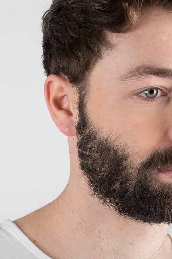 dafac3470 Tiny Earrings, Men Earring, Small Earrings, Dot Earrings, Earring for Men,