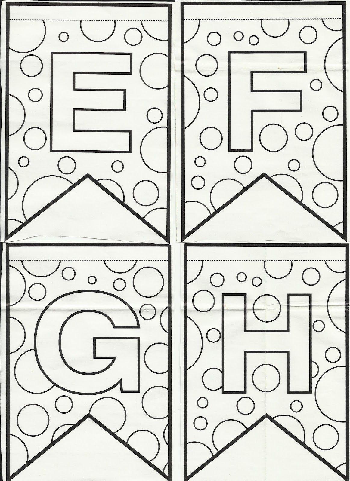 Blog Professor Zezinho : Letras do alfabeto bandeirinhas de Festa ...