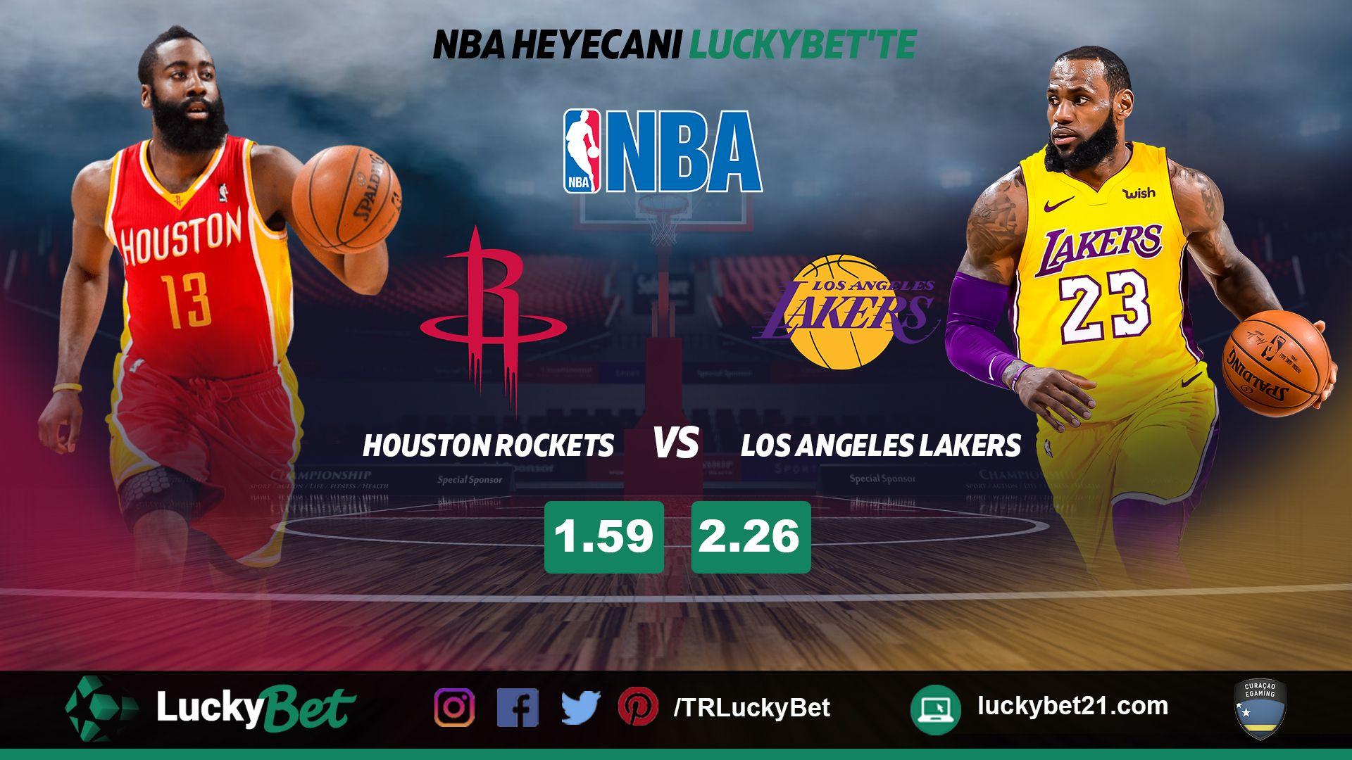 Nba Basketbol Liginde Gecenin Maci Houstonrockets Lakers Http Luckybet21 Com Sansa Inananlarin Canli Bahis Ve Casino Si Houston Rockets Nba Mac