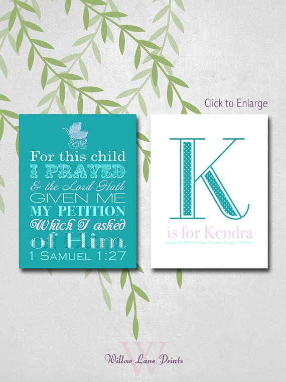 8x10 print set baby girl nursery art for this child i prayed wall art