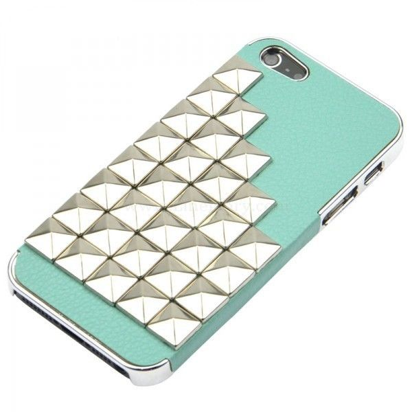 Rivet PU Leather Cover Case for iPhone 5 ($20) ❤ liked on Polyvore featuring accessories, tech accessories, phones, phone cases, fillers and electronics