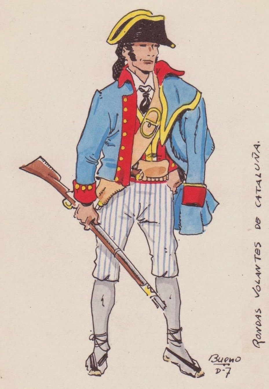 Rondas Volantes De Cataluna Esercito Uniforme Napoleone