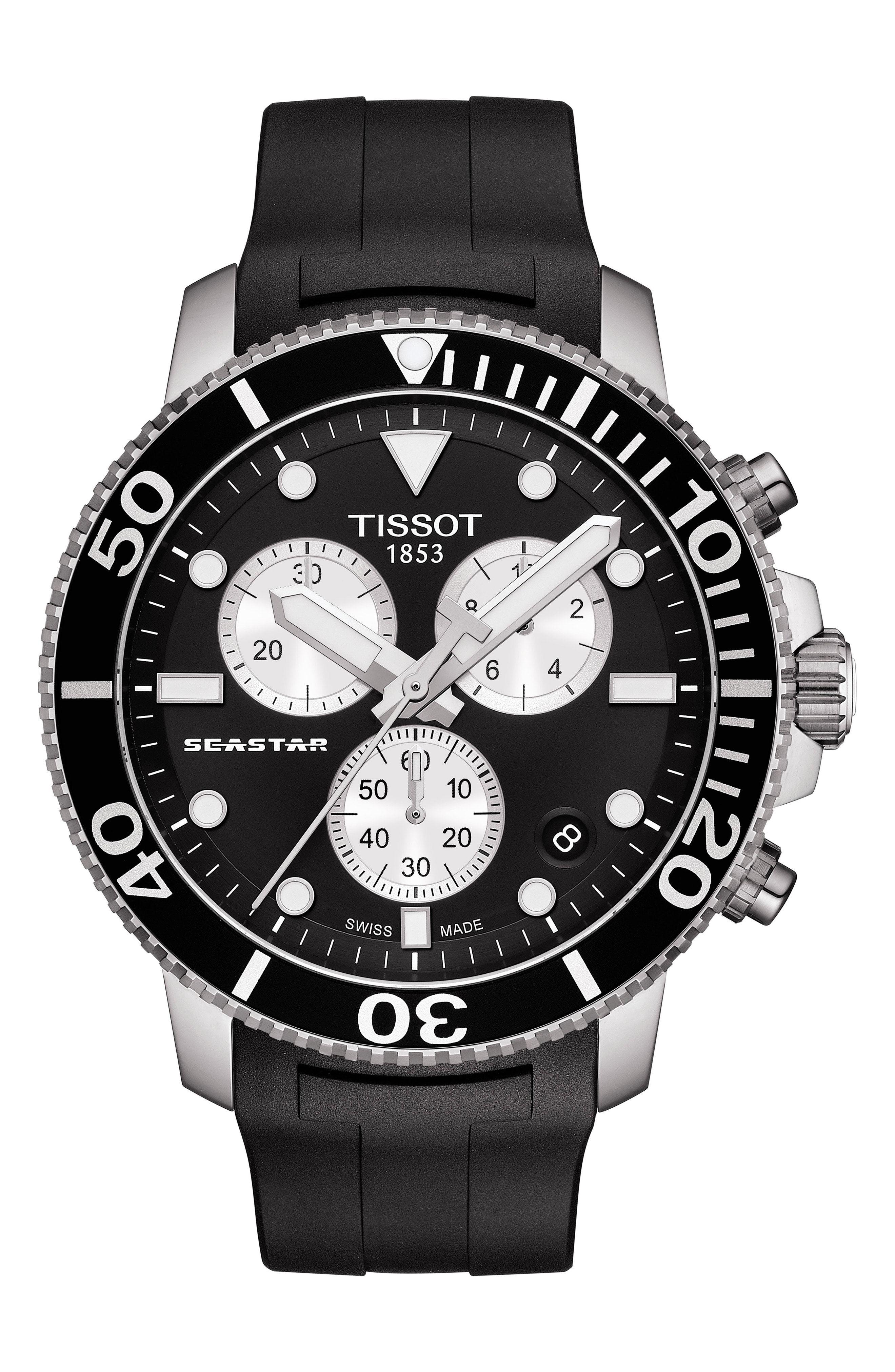 Tissot T Sport Seastar 1000 Rubber Strap Chronograph 45mm Tissot