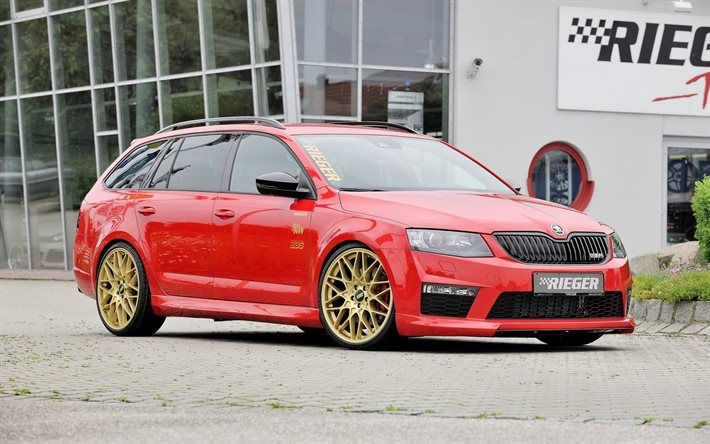Download Wallpapers Rieger Tuning Skoda Octavia Combi Wagons
