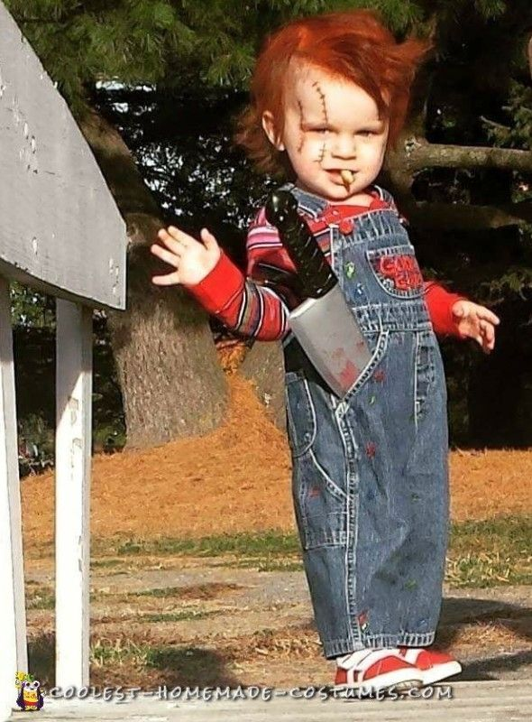 DIY Toddler Chucky Costume He Will Kill You With Cuteness