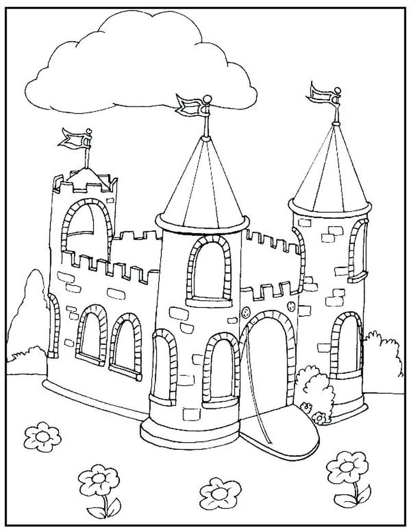 Pin By Susan Meardon On Castles In 2020 Castle Coloring Page