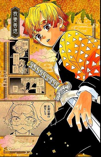 Zenitsu Demon Slayer Manga Poster