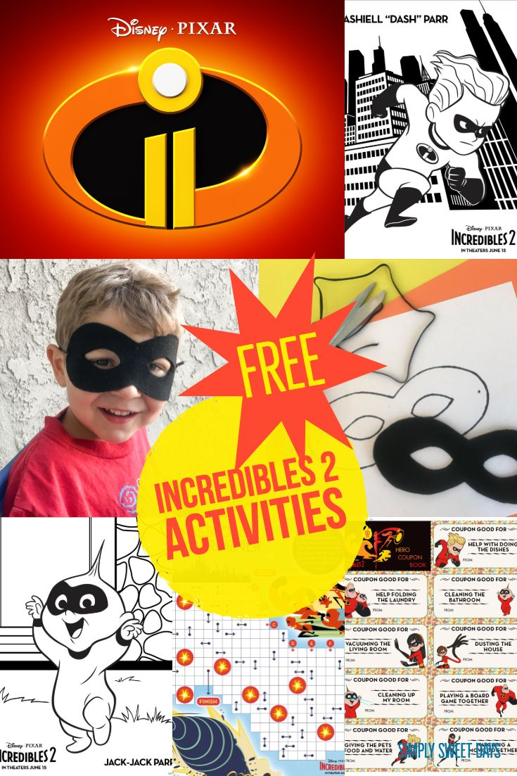 Incredibles 2 Movie Review and Activity Pages | Blog Group | Pinterest