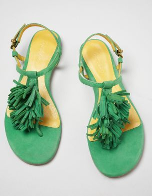 Image result for green tassel sandals