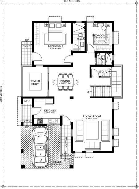 Amolo 5 Bedroom House Mhd 2016024 Pinoy Eplans Duplex House Plans Double Storey House Plans Indian House Plans