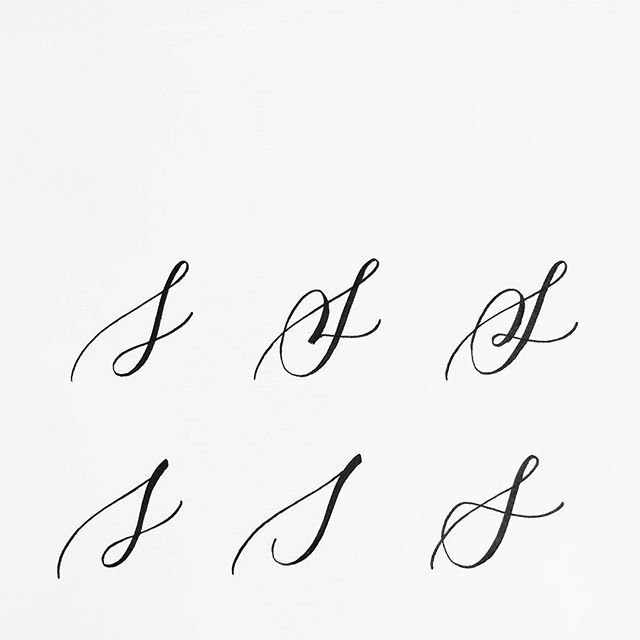The Letter S Is One Of The Most Beautiful Letters To Write And It S Also The One I Tend To Struggle With The Mo Letter S Tattoo Letter S Calligraphy Cursive