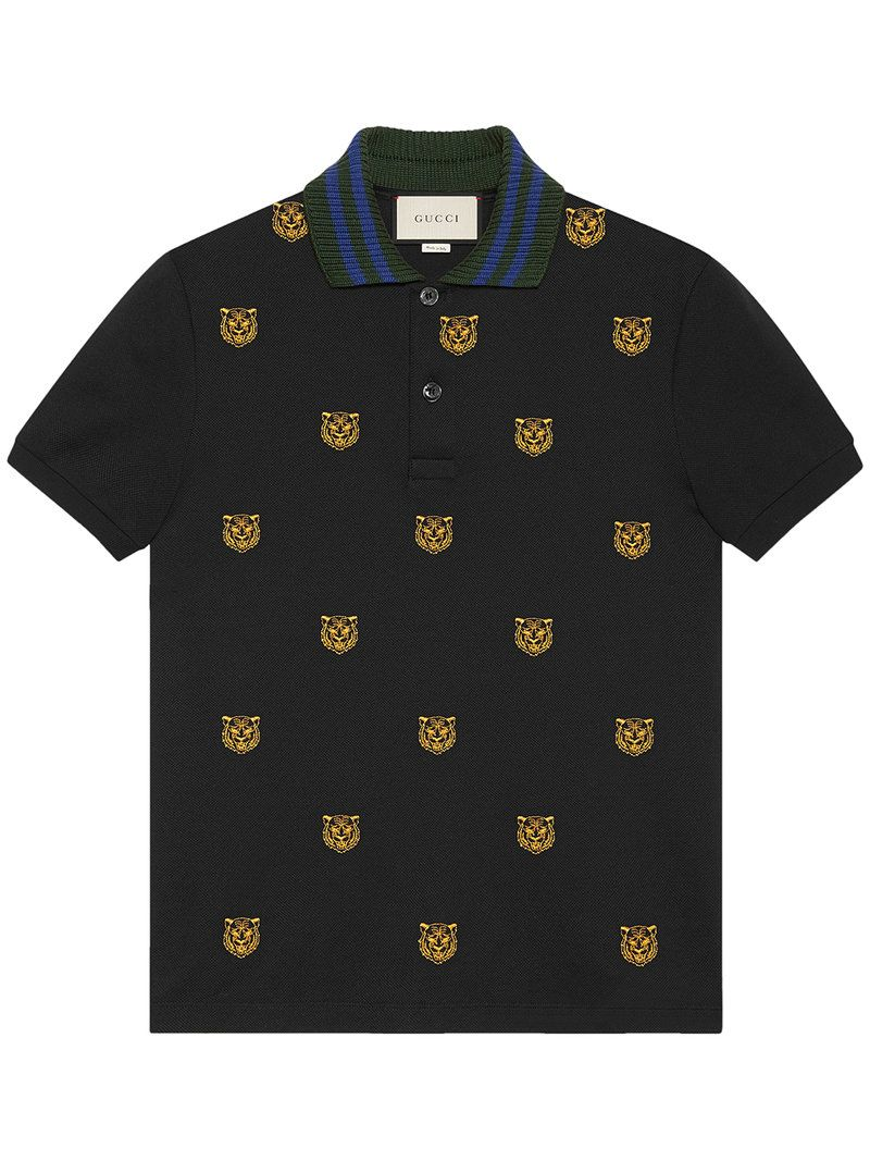 8d3602a9d GUCCI GUCCI - COTTON POLO WITH TIGER HEAD EMBROIDERY . #gucci #cloth ...