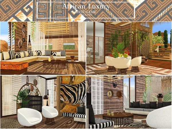 The Sims Resource: African Luxury House by Pralinesims ...