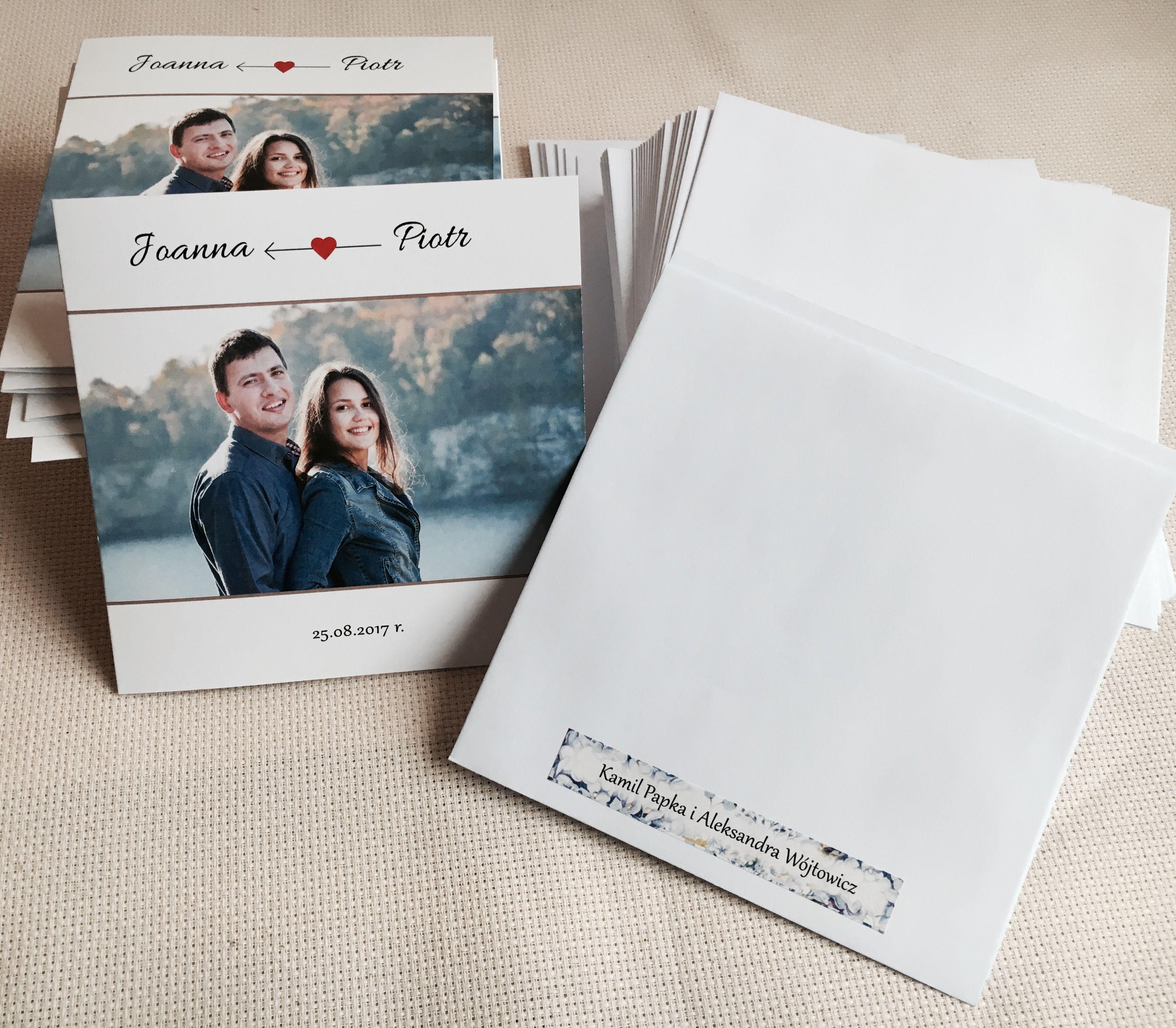 Zaproszenie ślubne Ze Zdjęciem Zaproszenia ślubne Navi