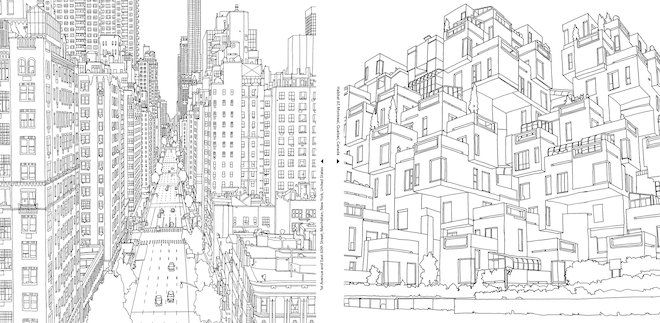 An Extremely Detailed Coloring Book For Architecture Lovers Fantastic Cities Coloring Book Coloring Books Coloring Pages