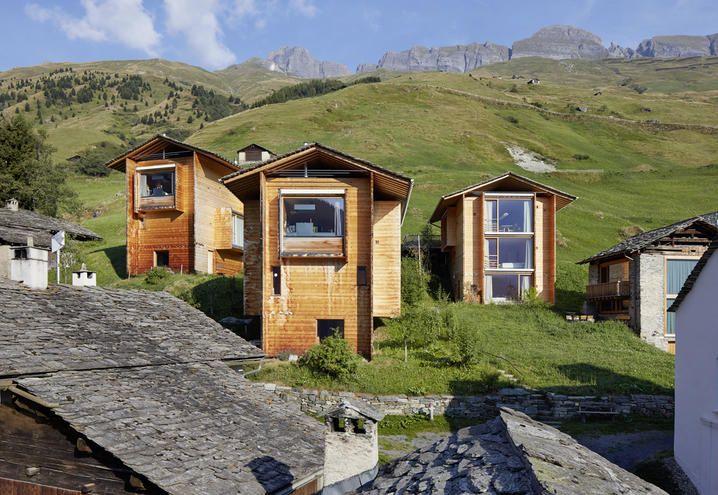 Case in legno by peter zumthor esterni architetture for Architettura in stile cottage