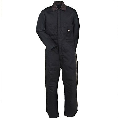 dickies coveralls men s black tv239 bk double knee duck on insulated overalls for men id=44399