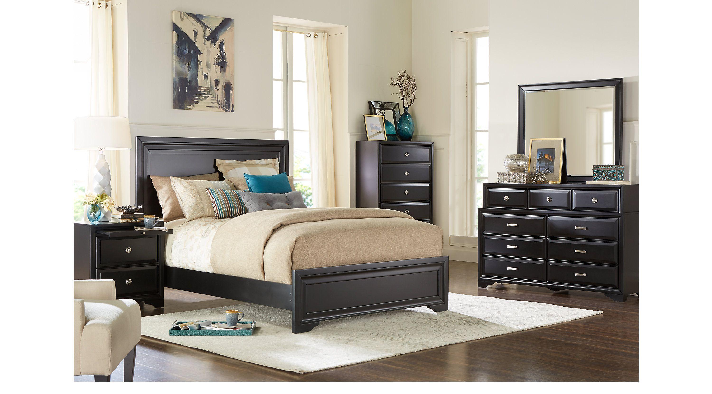 Belcourt black 7 pc queen panel bedroom queen bedroom