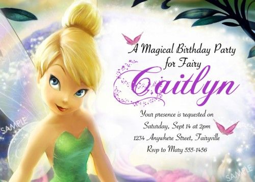 Tagfree Printable Tinkerbell Birthday Party Invitations – Tinkerbell Party Invitation