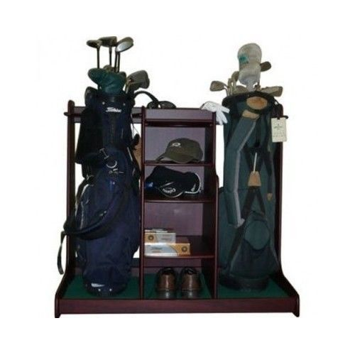 Golf Bag Storage Rack Shoes Clubs Balls Golfing Bags Equipment Holder Irons  Tees